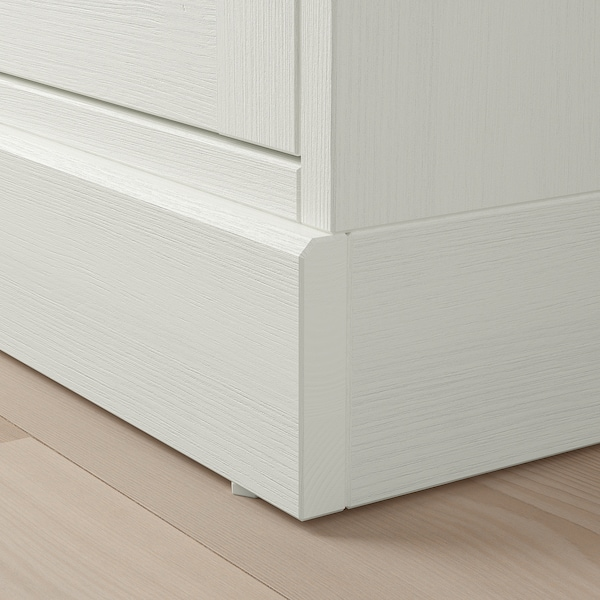 HAVSTA Cabinet with plinth, white, 81x37x134 cm