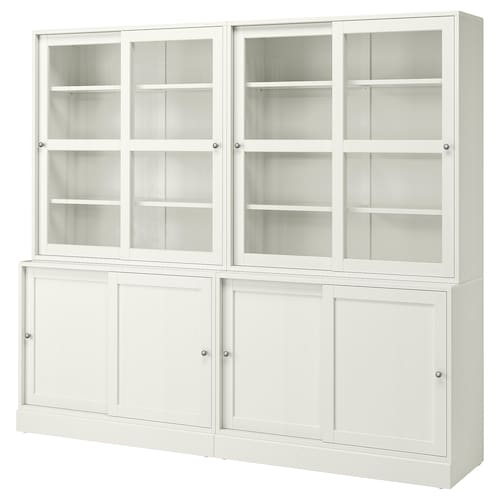 HAVSTA storage comb w sliding glass doors white 242 cm 47 cm 212 cm 32 kg