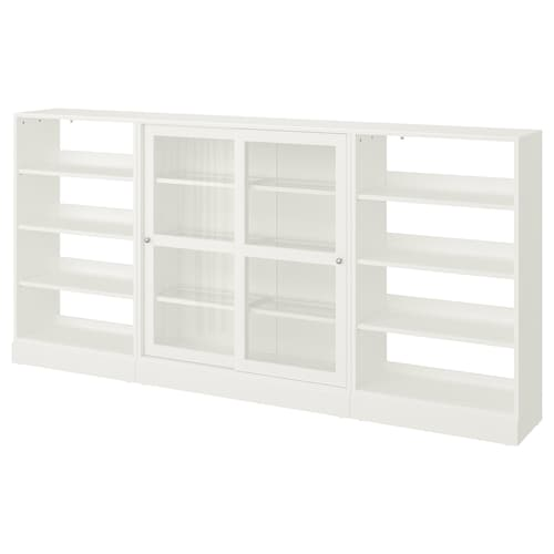 HAVSTA storage comb w sliding glass doors white 283 cm 37 cm 134 cm 26 kg
