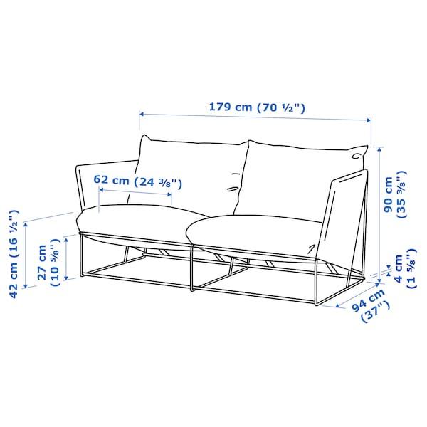 HAVSTEN 2-seat sofa, in/outdoor, orange/beige, 179x94x90 cm