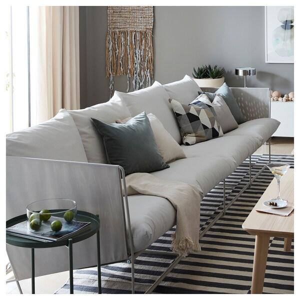 HAVSTEN 4-seat sofa, in/outdoor, beige, 341x94x90 cm