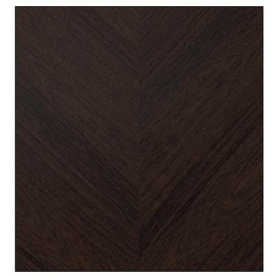 HEDEVIKEN Door, dark brown stained oak veneer, 60x64 cm