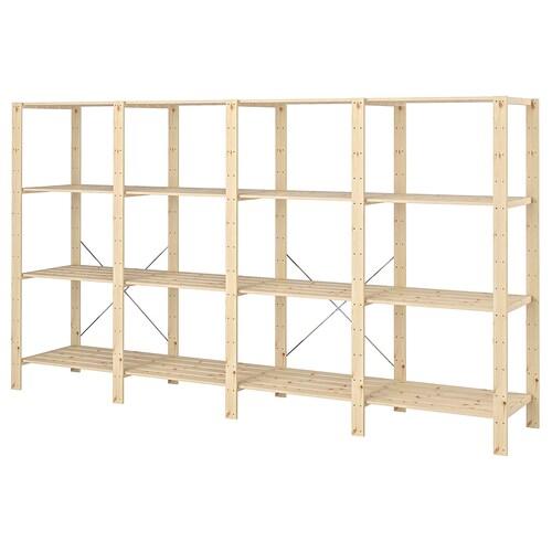HEJNE 4 sections/shelves softwood 307 cm 50 cm 171 cm 50 kg