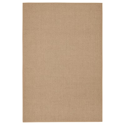 HELLESTED Rug, flatwoven, natural/brown, 200x300 cm