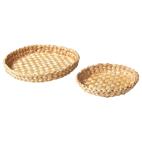 HEMGJORD dish, set of 2 banana fibre 40.0 cm 30.0 cm