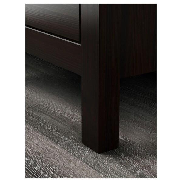 HEMNES خزانة بـدرجين, أسود-بني, 54x66 سم
