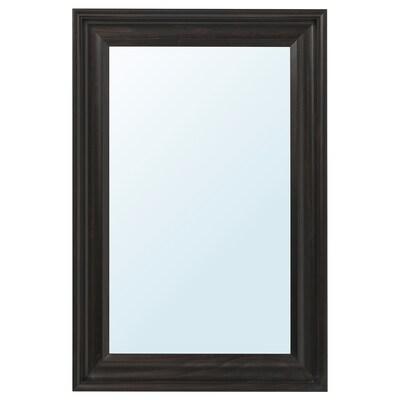 HEMNES مرآة, أسود-بني, 60x90 سم