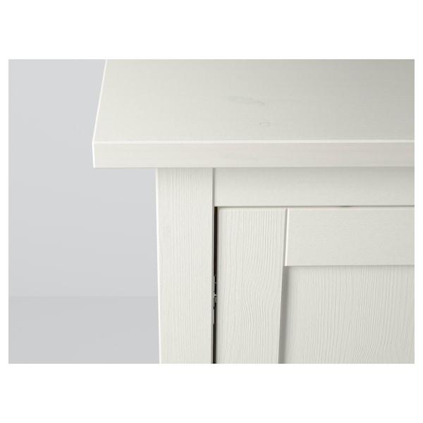 HEMNES خزانة جانبية, صباغ أبيض, 157x88 سم