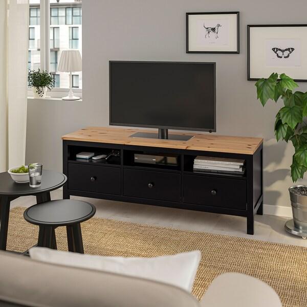 Hemnes Ikea Tv Kast.Hemnes Tv Bench Black Brown Light Brown Ikea
