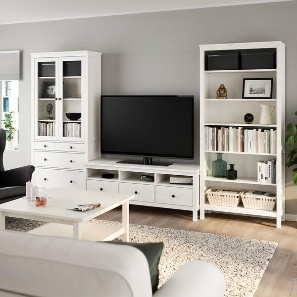 Hemnes Tv Storage Combination White Stain Clear Glass Ikea