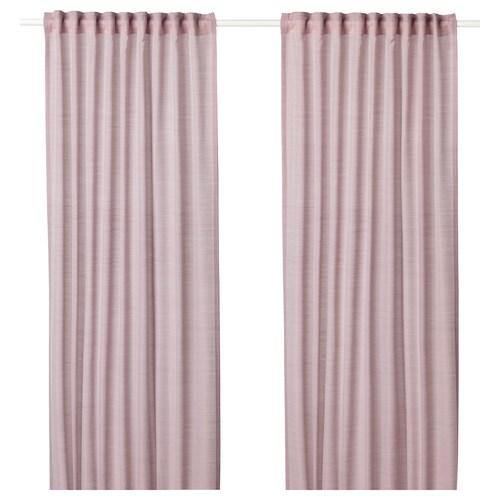 HILJA curtains, 1 pair pink 300 cm 145 cm 0.70 kg 4.35 m² 2 pieces