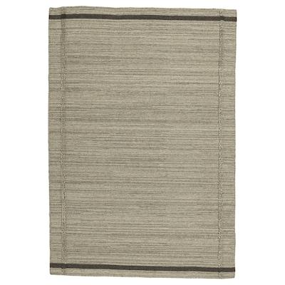 HÖJET سجاد، غزل مسطح, صناعة يدوية/بيج, 133x195 سم