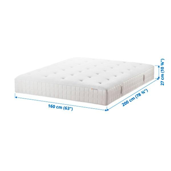 HYLLESTAD Pocket sprung mattress, medium firm/white, 160x200 cm