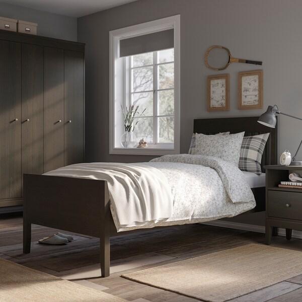 IDANÄS اطار سرير, بني غامق/Lönset, 90x200 سم