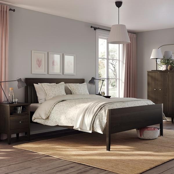 IDANÄS هيكل سرير, بني غامق/Luröy, 160x200 سم