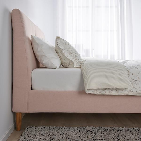 IDANÄS هيكل سرير بتنجيد, Gunnared وردي فاتح, 140x200 سم