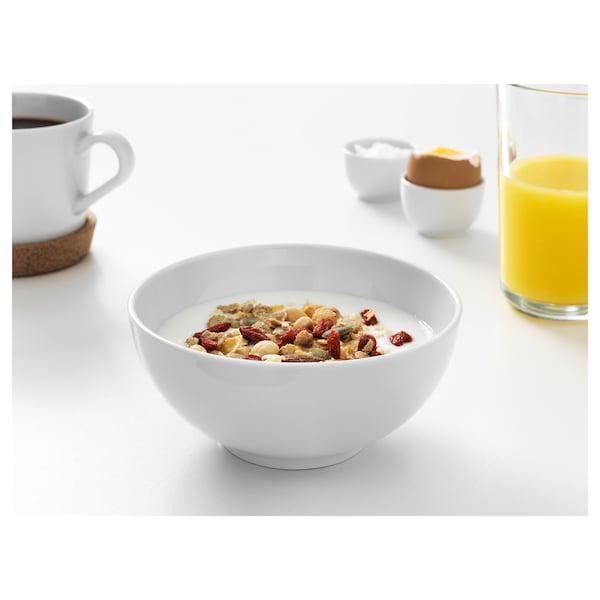 IKEA 365+ bowl rounded sides white 6 cm 13 cm