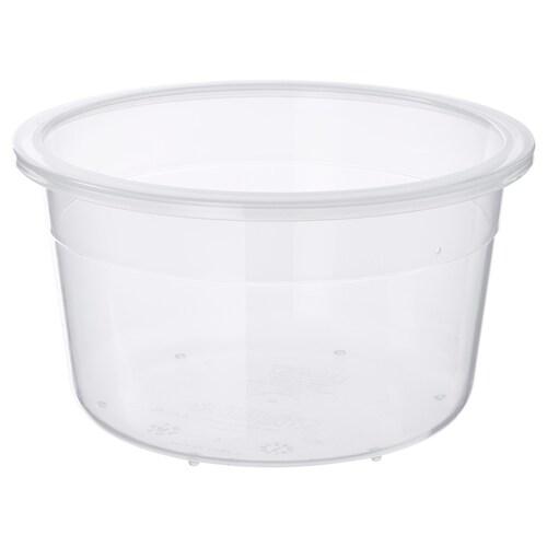 IKEA 365+ food container round/plastic 8 cm 14 cm 750 ml