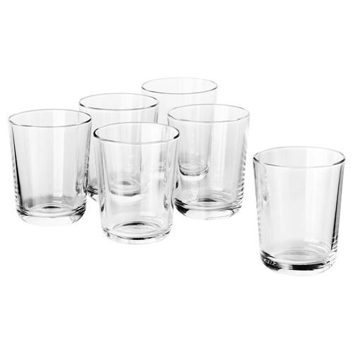 IKEA 365+ glass clear glass 9 cm 20 cl 6 pieces