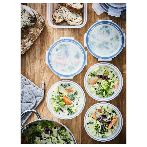 IKEA 365+ حاوية طعام مع غطاء, دائري/بلاستيك, 450 مل
