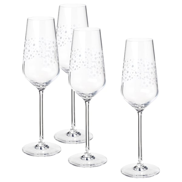 INBJUDEN كأس, زجاج شفاف, 24 سل