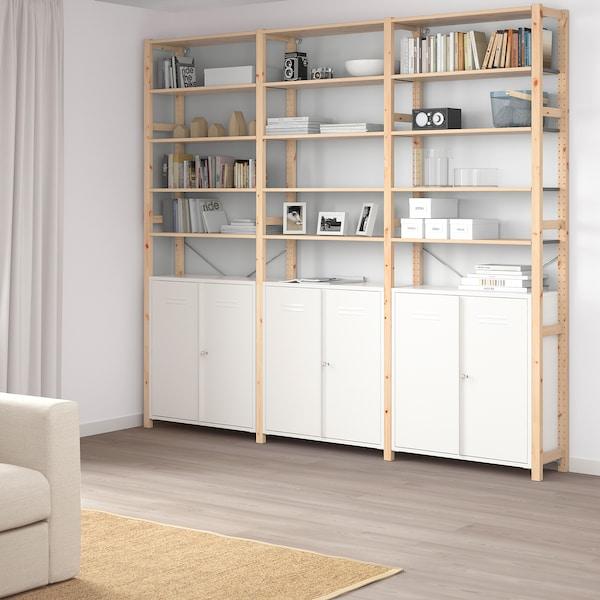 IVAR خزانة مع أبواب, أبيض, 80x83 سم