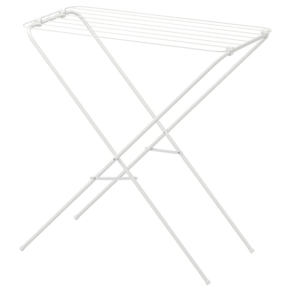 JÄLL drying rack, in/outdoor white 79 cm 40 cm 82 cm
