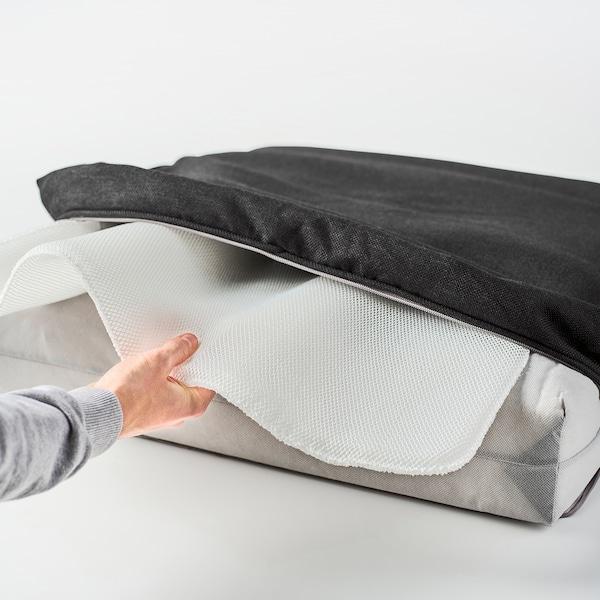 JÄRPÖN غطاء وسادة مقعد, خارجي فحمي, 62x62 سم