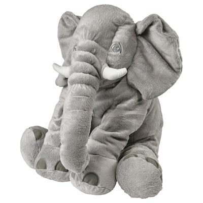 JÄTTESTOR Soft toy, elephant/grey