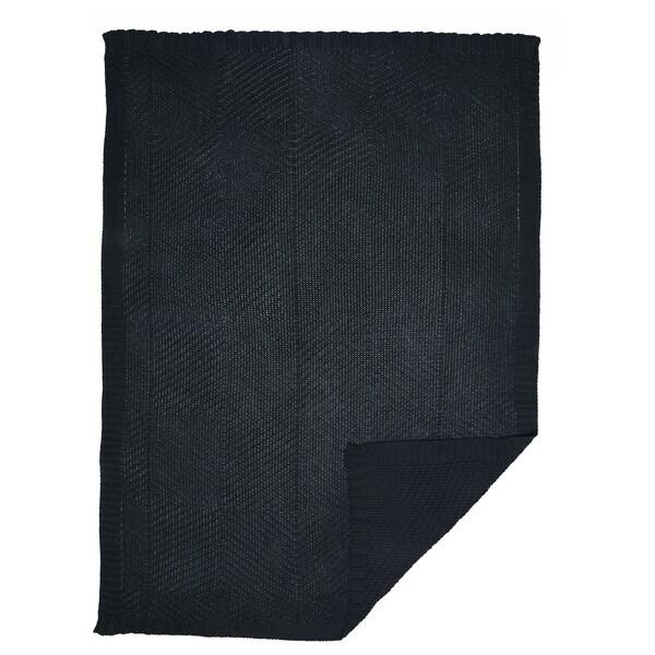 JENNYANN throw dark grey 170 cm 130 cm 900 g