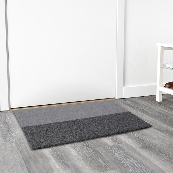 JERSIE door mat dark grey 90 cm 60 cm 6 mm 0.54 m² 1530 g/m² 321 g/m² 4 mm