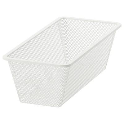 JONAXEL Mesh basket, white, 25x51x15 cm