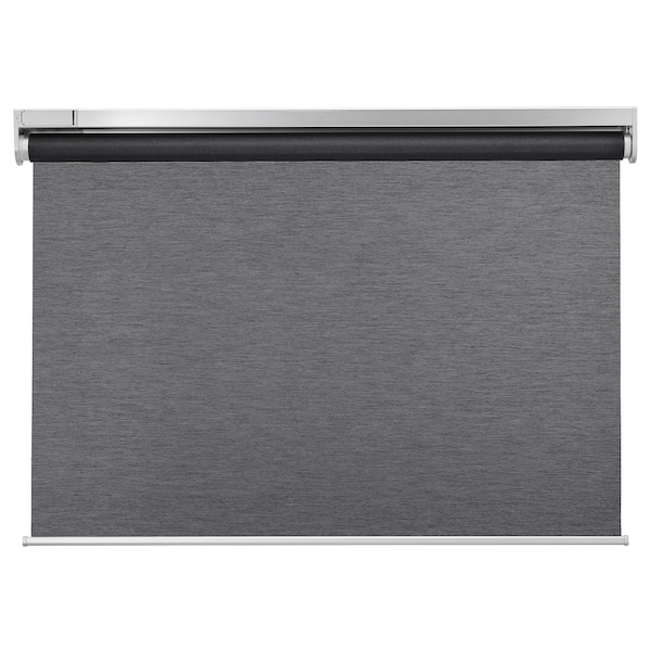 KADRILJ Roller blind, wireless/battery-operated grey, 120x195 cm