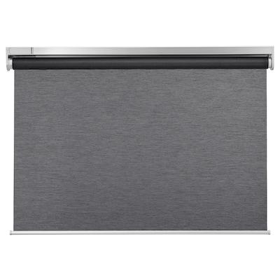 KADRILJ Roller blind, wireless/battery-operated grey, 140x195 cm