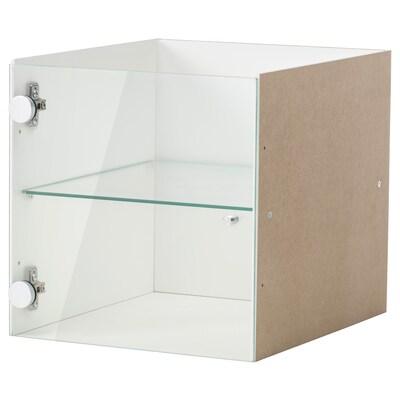 KALLAX Insert with glass door, white, 33x33 cm