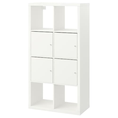 KALLAX shelving unit with doors white 77 cm 39 cm 147 cm 13 kg