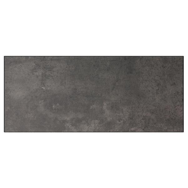 KALLVIKEN واجهة دُرج, رمادي غامق تأثيرات ماديّة., 60x26 سم