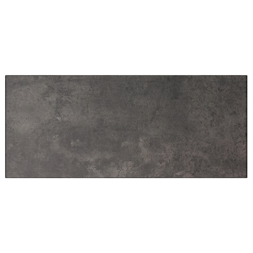 KALLVIKEN drawer front dark grey concrete effect 60 cm 26 cm 2.0 cm