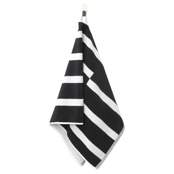 KINNEN منشفة يد, أسود/ أبيض, 50x100 سم