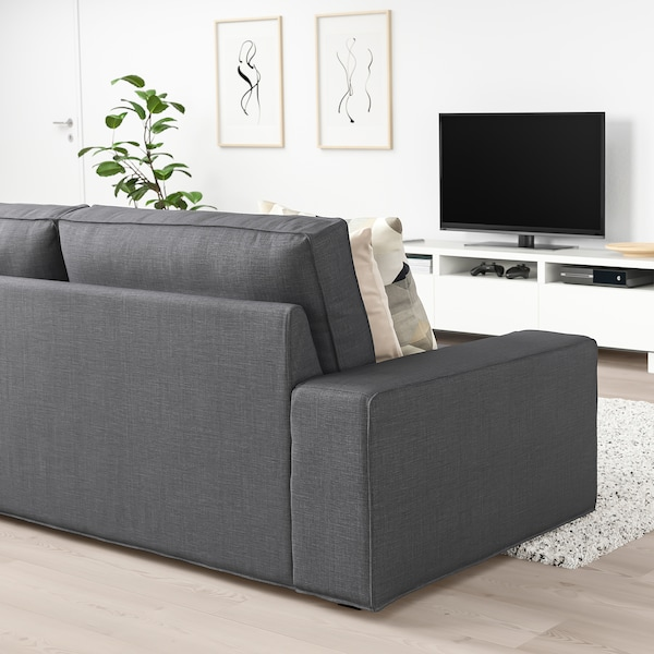 KIVIK 3 seat sofa   Skiftebo dark grey   IKEA