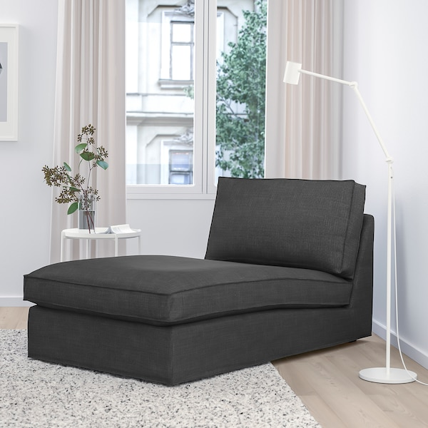 KIVIK Chaise longue, Hillared anthracite