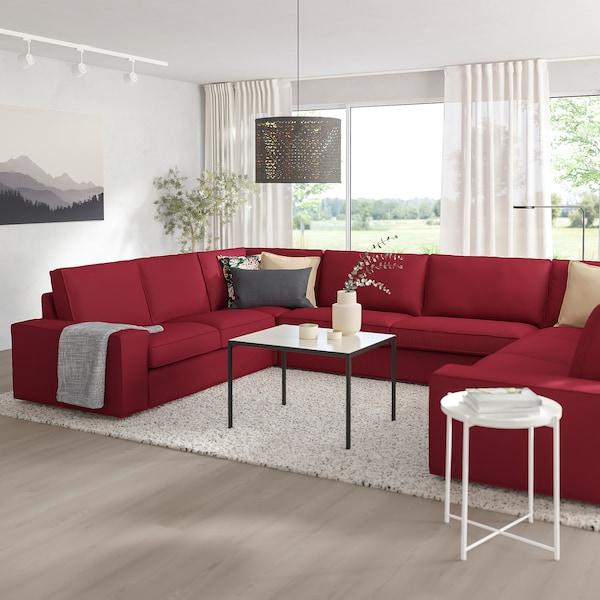 KIVIK U-shaped sofa, 7-seat, Orrsta red