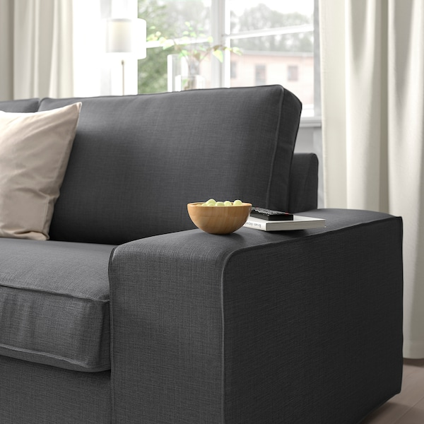 KIVIK U-shaped sofa, 7-seat, Skiftebo dark grey