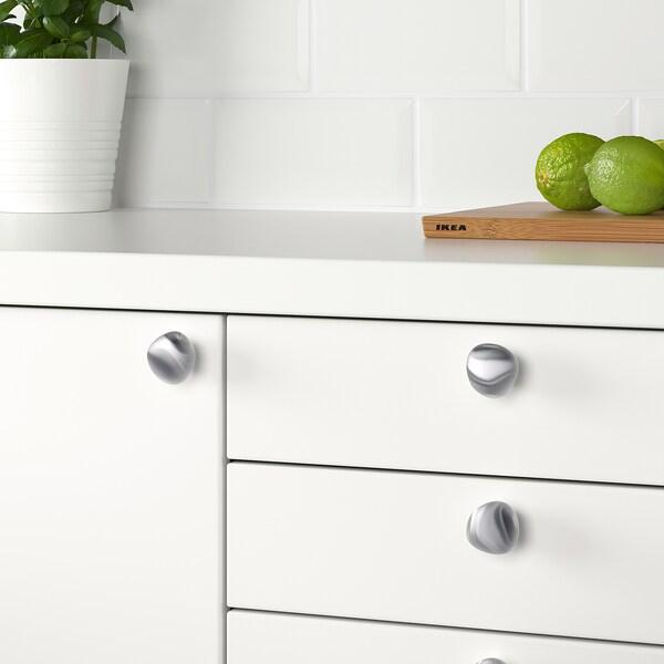 KLACKBERG knob silver-colour 30 mm 35 mm 5 mm 2 pieces