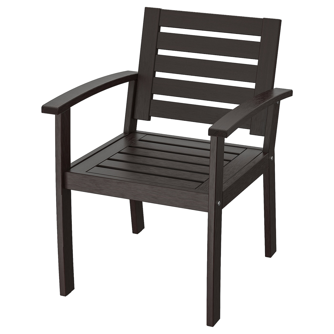 Kloven Chair With Armrests Outdoor Black Brown Ikea