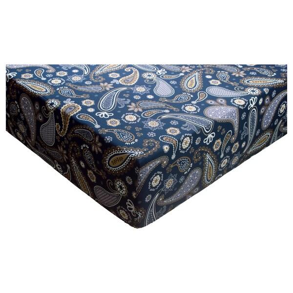 KNÖLSYSKA Fitted sheet, 160x200 cm