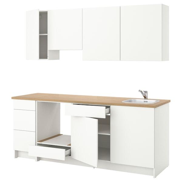 KNOXHULT Kitchen, white, 220x61x220 cm