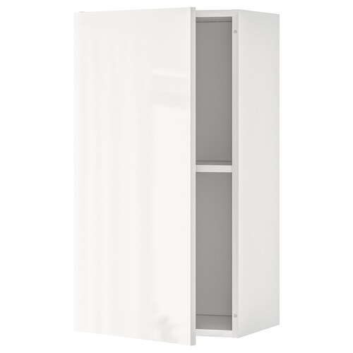 KNOXHULT wall cabinet with door high-gloss white 40 cm 31 cm 75 cm