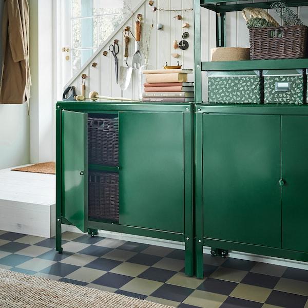 KOLBJÖRN خزانة للداخل/للخارج, أخضر, 80x81 سم