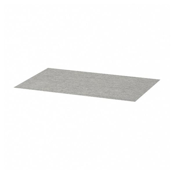 KOMPLEMENT Drawer mat, light grey patterned, 90x53 cm